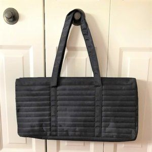 NWOT DSW Black Quilted Duffel Bag